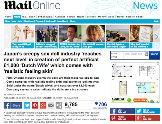 daily mail orient industry sex dolls