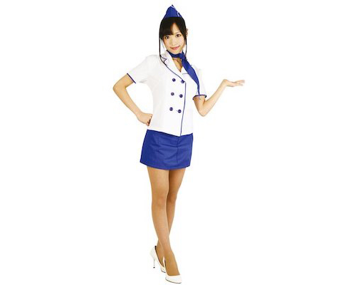 Attention Please Stewardess Cosplay Costume