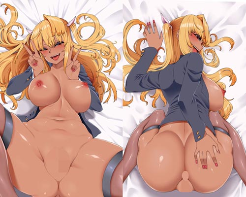 Insert Hug Pillow Inflatable Dakimakura Cover 101 Bakunyu Gyaru