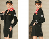 Japanese Air Stewardess Cosplay Kostüm-Set