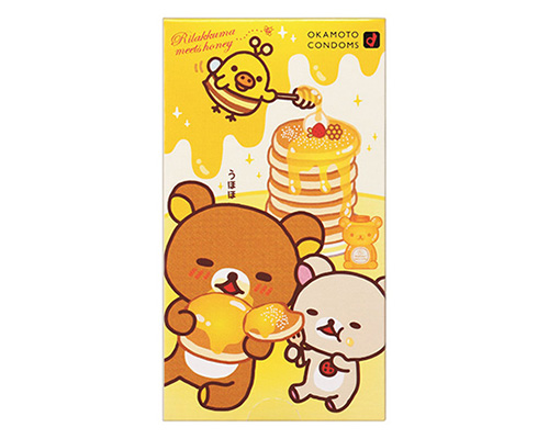 Rilakkuma Love-Love Hot Honey Flavor Condoms