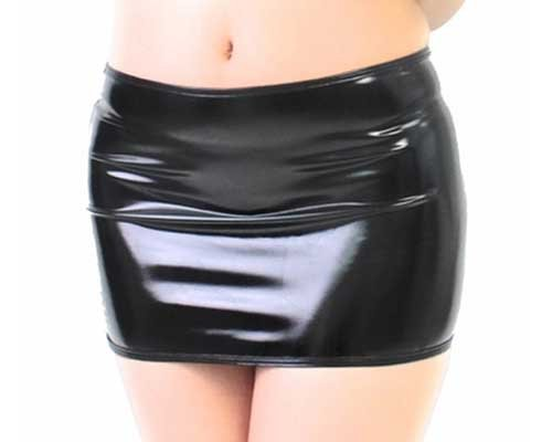 Shiny Enamel Mini Skirt