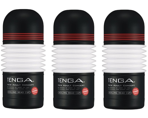 Tenga Onacup Rolling Head Black Edition 3 Pack