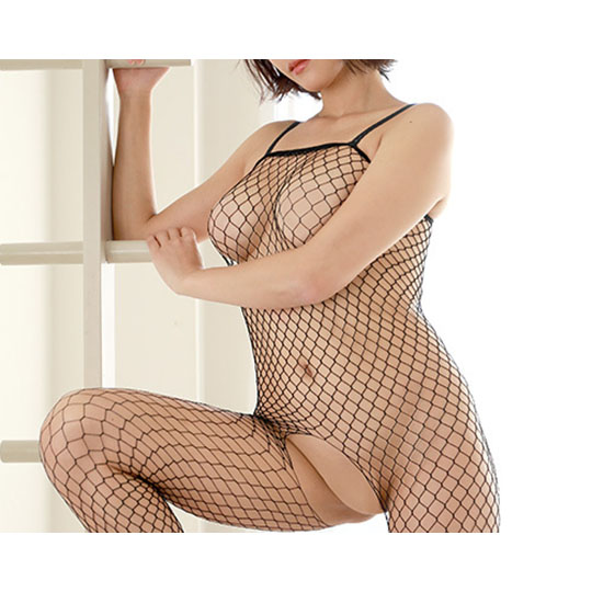 Crescente Crotchless Fishnet Bodystocking
