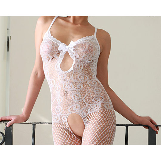 Crescente Crotchless Lace Bodystocking