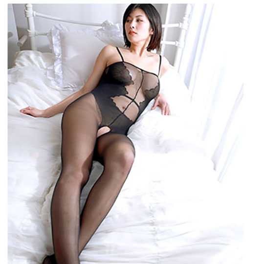 Crescente Crotchless Transparent Bodystocking