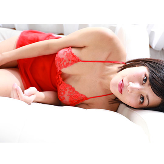 Crescente Red Camisole and Panties Set