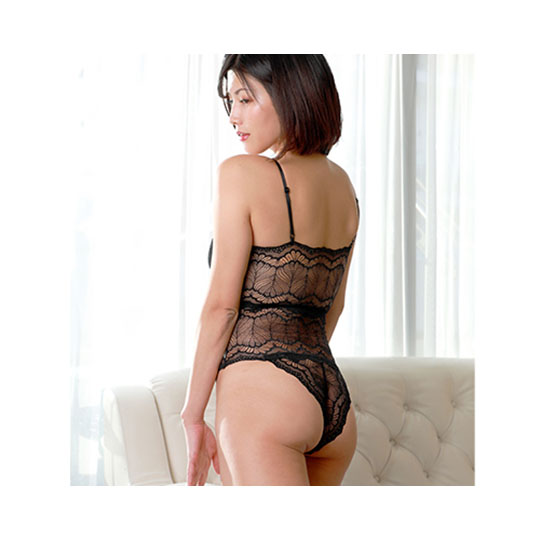 Crescente See-Through Black Lace Teddy