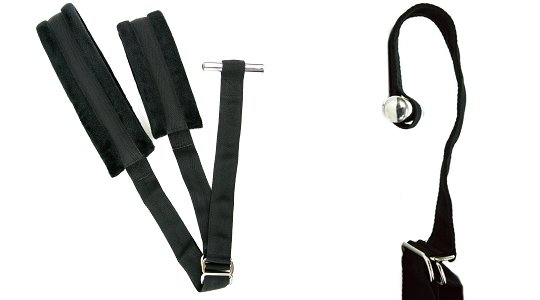 E-Lock Door Jam Bondage Wrist Cuffs Thigh Restraints