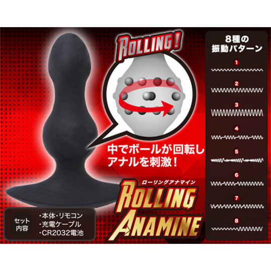 Rolling Anamine Anal Vibrator