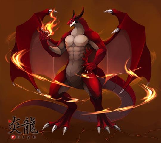 Amazing Beasts Flame Dragon Dildo