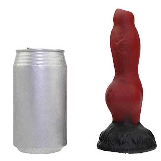 Amazing Beasts Garm Dildo Wine Red and Black