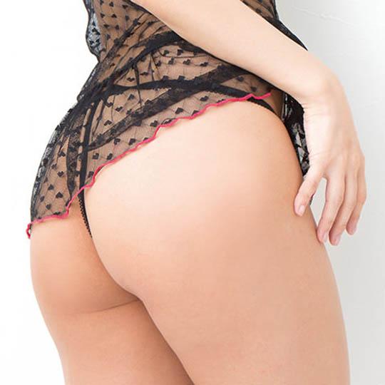 Mon Cheri Sexy Lingerie Black-Pink Nightgown