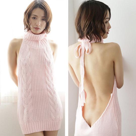 Open Back Knit Dress A