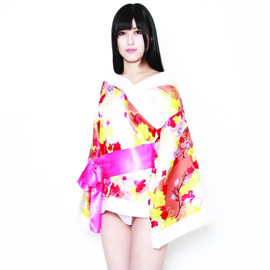 Ero Cosplay Oiran Japanese Courtesan Flower Kimono