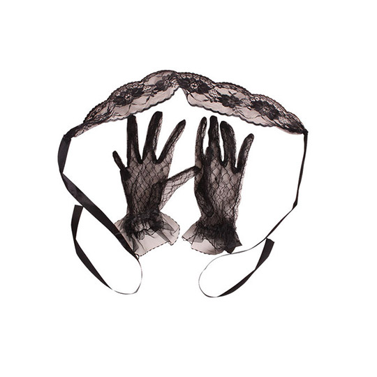 Racy Lacy Eye Mask and Gloves