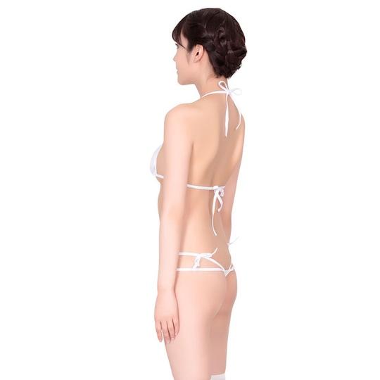 Luxury White Bra-Thong Skimpy Teddy