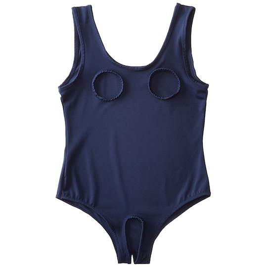 Open Hole Japanese School Swimsuit Costume