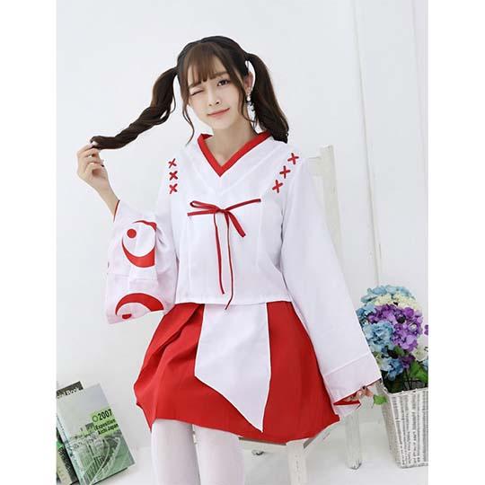Cute Japanese Shrine Maiden Costume