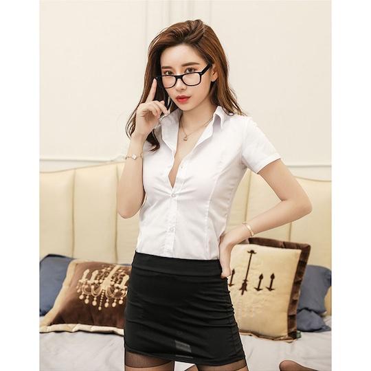 Tight Body Line Female Teacher Costume