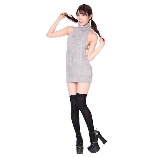 Virgin Killer Sweater and Knee-High Socks Set (Gray)