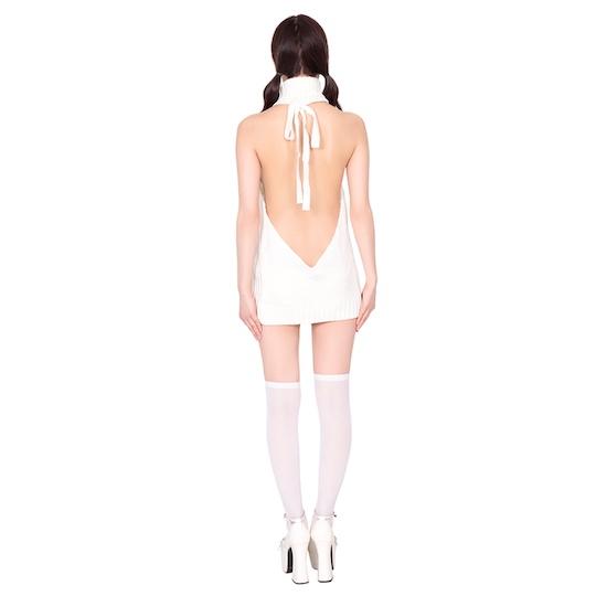 Virgin Killer Sweater and Knee-High Socks Set (White)