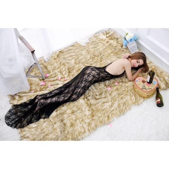 Lacy Mermaid Black Lingerie