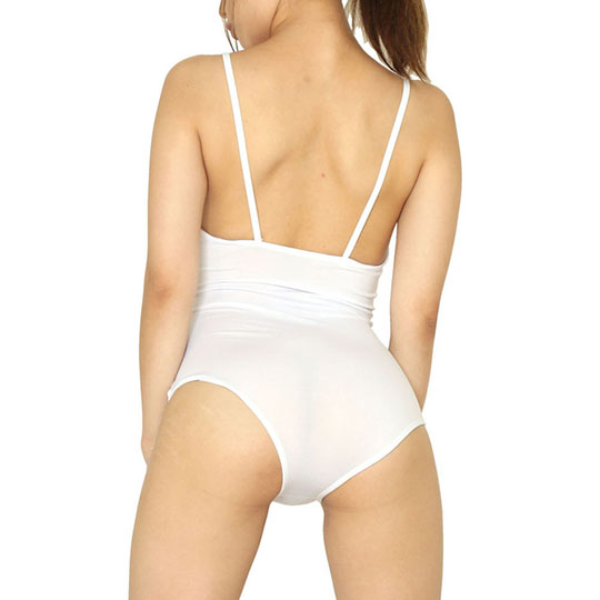 See-Through School Swimsuit White