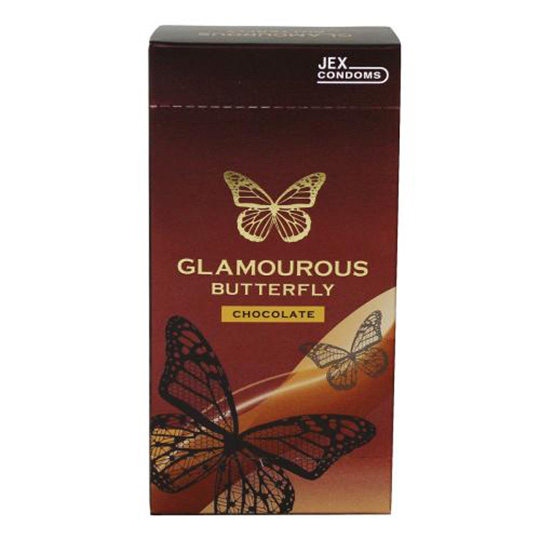 Glamorous Butterfly Scented Condoms (6 Pack)