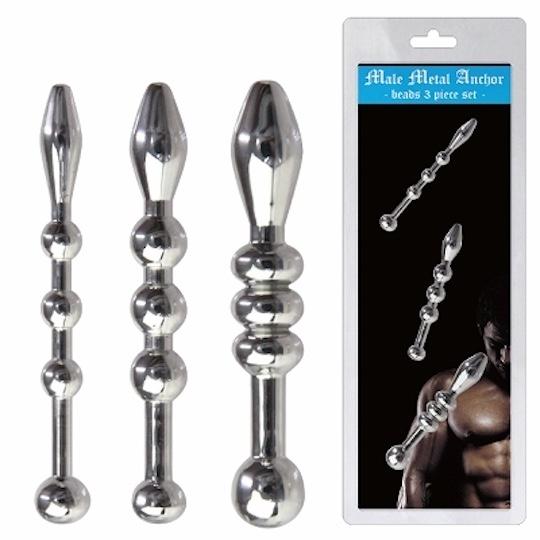 Male Metal Anchor Beads Pee Hole Plug (Set of 3)