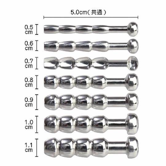 Male Metal Anchor Beads Pee Hole Plug (Set of 7)