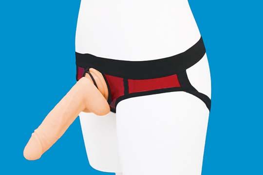 Glossy Jockstrap Shorts with Penis Ring