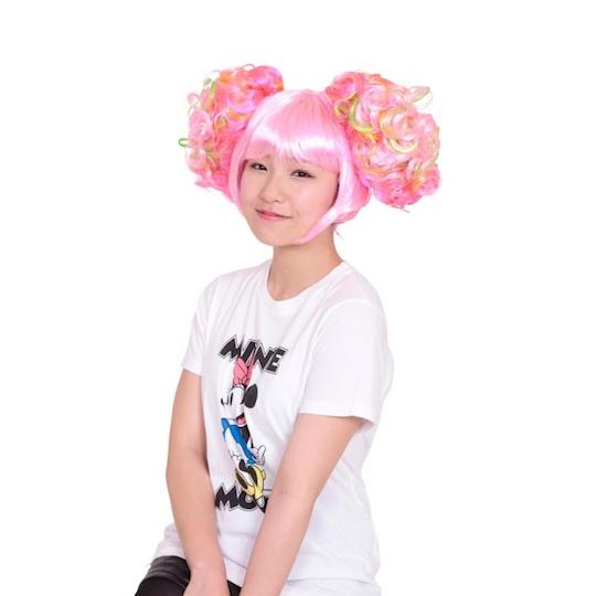 Harajuku Girl Crazy Pink Hair Wig