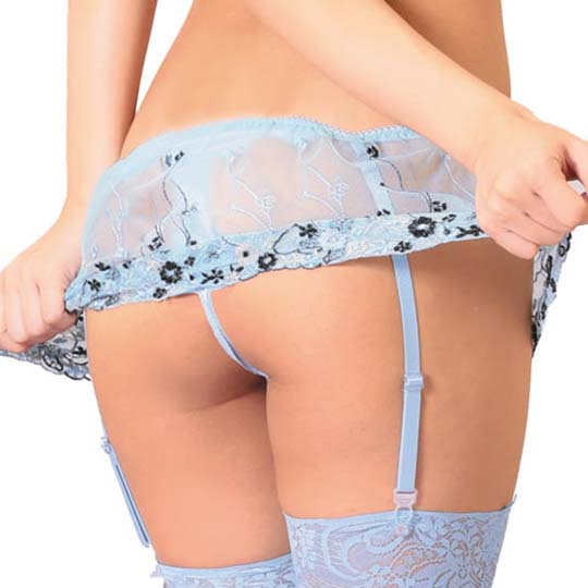 Mon Cheri Sexy Lingerie See-Through Floral Bralette and Panties