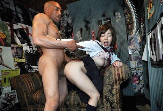 Ai Ishihara 18-Year-Old Schoolgirl Vs Black Boxer -6351