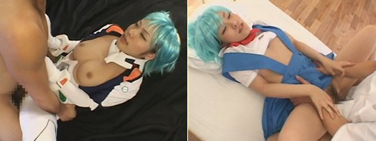 Evangelion Rei Ayanami Cosplay Anime Bukkake from Ifrit SOD