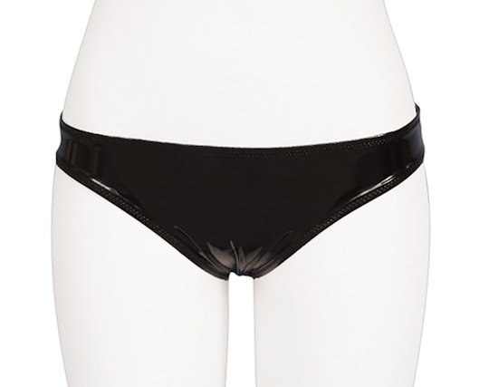 Shiny Enamel Open Back Panties for Otoko no Ko