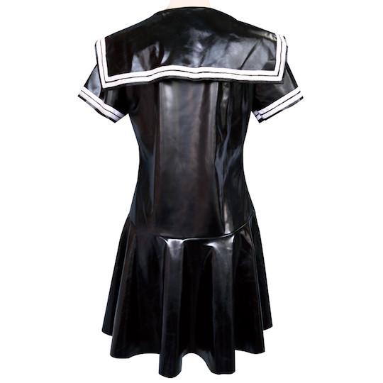 Shiny Enamel Crossdresser Sailor Schoolgirl Uniform