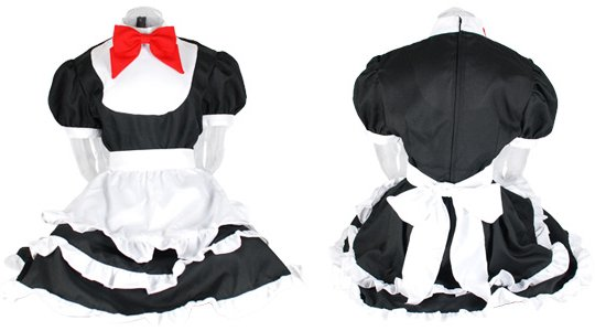 Candy Maid Style Black Uniform with Panties