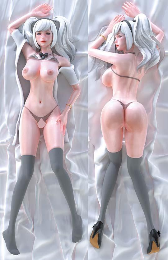 Insert Air Pillow Futamata Cover 74 3D Anime Figurine