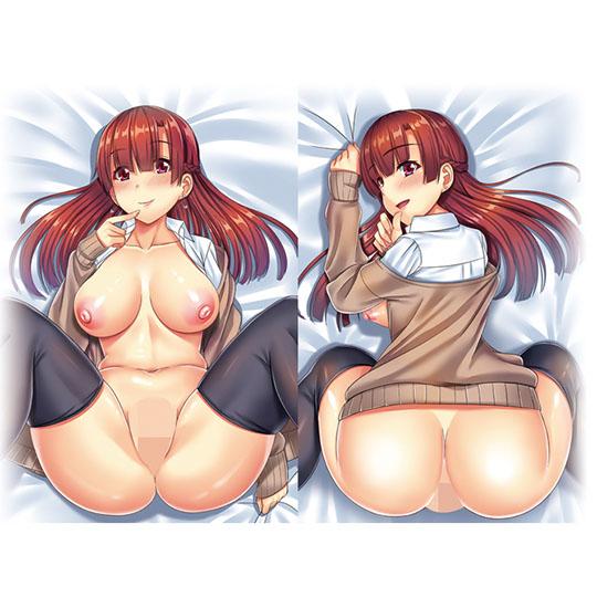 Insert Hug Pillow Cover 39 Redhead Schoolgirl in Thigh Socks