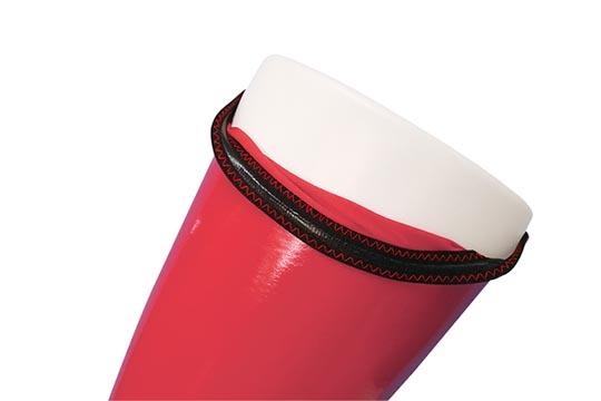 Otoko no Ko Shiny Enamel Knee Socks Red
