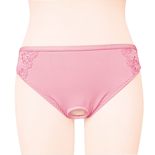 Open Back Lace Panties with Ring for Otoko no Ko
