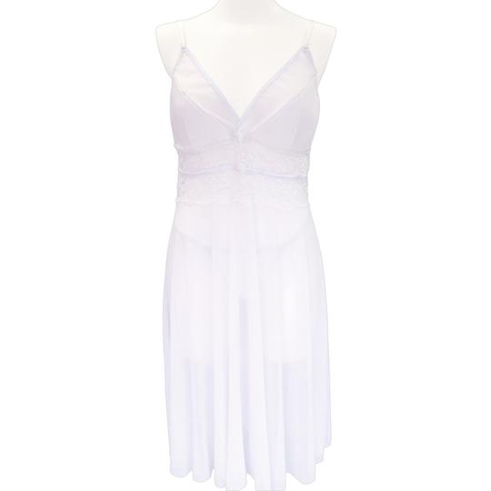 White Babydoll Otoko no Ko Crossdresser Sleepwear