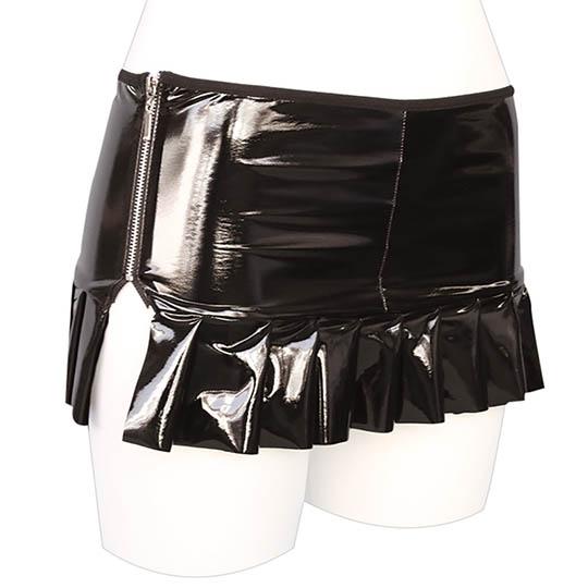 Otoko no Ko Shiny Enamel Pleated Skirt