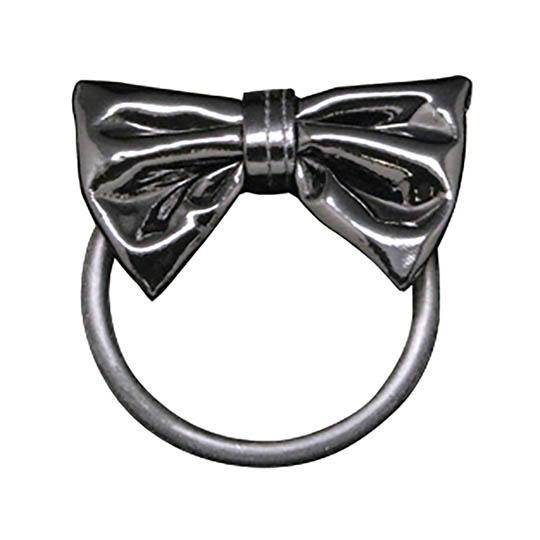 Shiny Black Ribbon Cock Tie