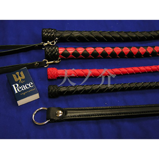 Braided Leather Short Whip