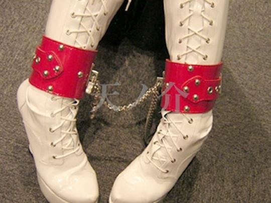 Enamel Leather Wrist-Ankle Cuffs