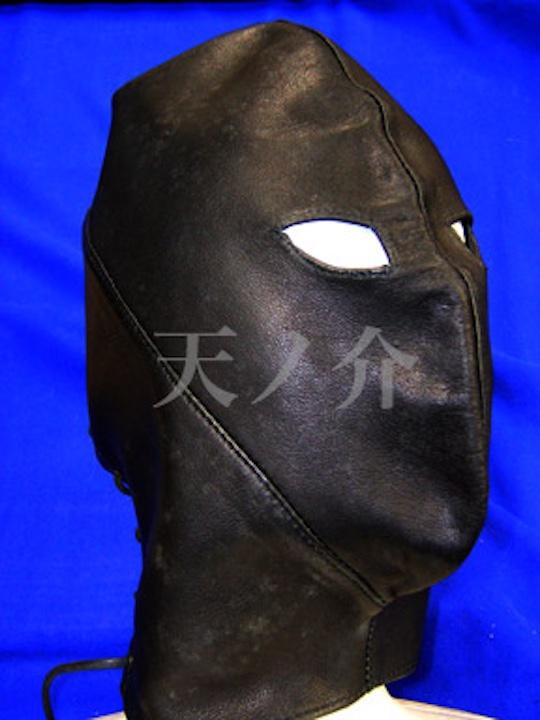 Full-Face Leather BDSM Mask