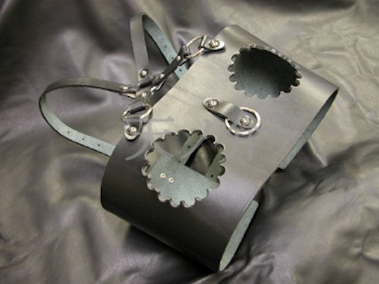 Leather Exposed Breasts BDSM Restraint Corset